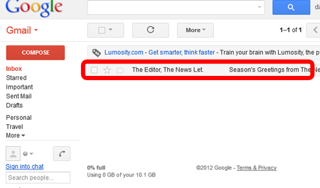 Viewing email headers in Gmail